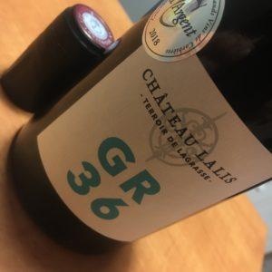 bouteille de vin GR36 château Lalis