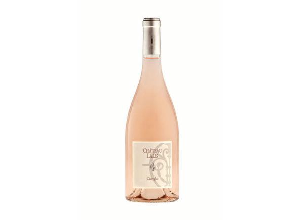 bouteille de vin rose