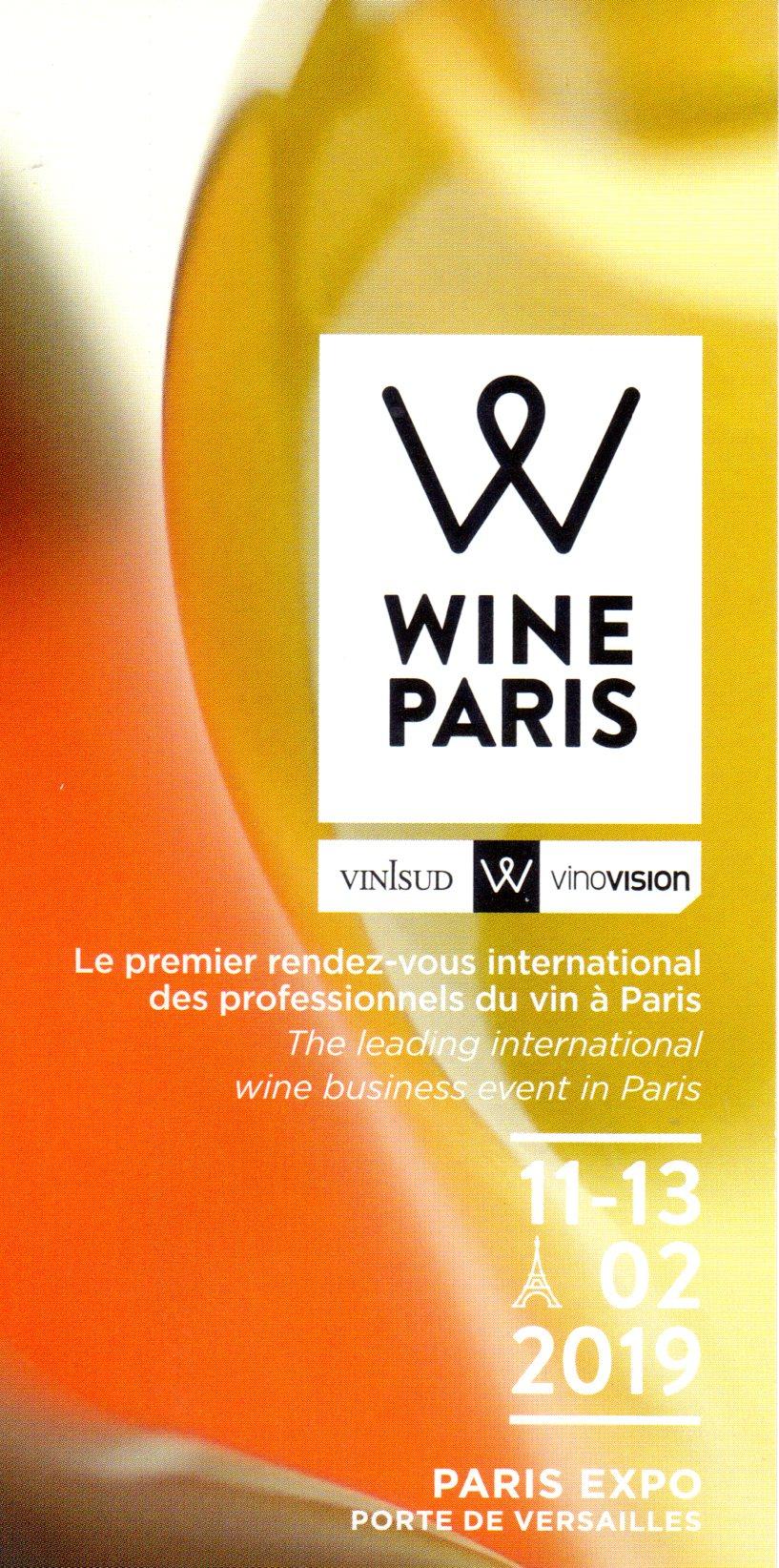Salon Wine Paris 2019 du 11 au 13 Février